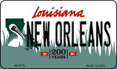 New Orleans Louisiana State License Plate Novelty Wholesale Magnet M-6179