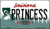 Princess Louisiana State License Plate Novelty Wholesale Magnet M-6199
