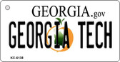 Georgia Tech State License Plate Novelty Wholesale Key Chain KC-6138