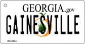 Gainesville Georgia State License Plate Novelty Wholesale Key Chain KC-6144