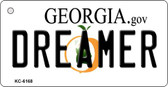 Dreamer Georgia State License Plate Novelty Wholesale Key Chain KC-6168