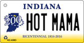 Hot Mama Indiana State License Plate Novelty Wholesale Key Chain KC-6383