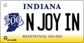 N Joy IN Indiana State License Plate Novelty Wholesale Key Chain KC-6389