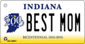 Best Mom Indiana State License Plate Novelty Wholesale Key Chain KC-6651