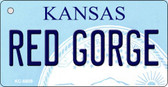 Red George Kansas State License Plate Novelty Wholesale Key Chain KC-6609
