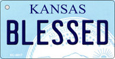 Blessed Kansas State License Plate Novelty Wholesale Key Chain KC-6617