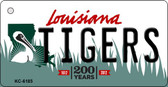 Tigers Louisiana State License Plate Novelty Wholesale Key Chain KC-6185