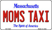 Moms Taxi Massachusetts State License Plate Wholesale Magnet M-11020