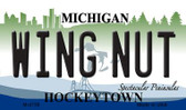 Wing Nut Michigan State License Plate Novelty Wholesale Magnet M-4759