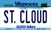St Cloud Minnesota State License Plate Novelty Wholesale Magnet M-11040