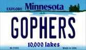 Gophers Minnesota State License Plate Novelty Wholesale Magnet M-11053