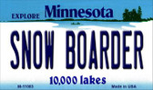 Snow Boarder Minnesota State License Plate Novelty Wholesale Magnet M-11083