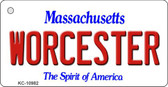 Worcester Massachusetts State License Plate Wholesale Key Chain KC-10982