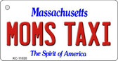 Moms Taxi Massachusetts State License Plate Wholesale Key Chain KC-11020