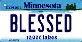 Blessed Minnesota State License Plate Novelty Wholesale Key Chain KC-11074