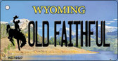 Old Faithful Wyoming State License Plate Wholesale Key Chain