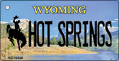 Hot Springs Wyoming State License Plate Wholesale Key Chain