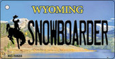 Snowboarder Wyoming State License Plate Wholesale Key Chain