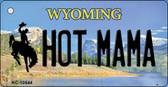 Hot Mama Wyoming State License Plate Wholesale Key Chain