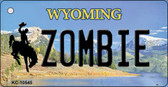 Zombie Wyoming State License Plate Wholesale Key Chain