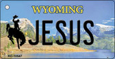 Jesus Wyoming State License Plate Wholesale Key Chain