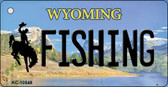 Fishing Wyoming State License Plate Wholesale Key Chain