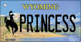 Princess Wyoming State License Plate Wholesale Key Chain