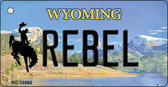 Rebel Wyoming State License Plate Wholesale Key Chain