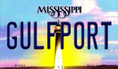 Gulfport Mississippi State License Plate Wholesale Magnet M-6554