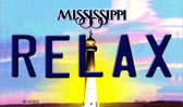Relax Mississippi State License Plate Wholesale Magnet M-6565