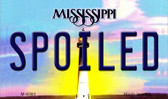 Spoiled Mississippi State License Plate Wholesale Magnet M-6591