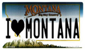 I Love Montana State License Plate Novelty Wholesale Magnet M-11086
