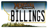 Billings Montana State License Plate Novelty Wholesale Magnet M-11090