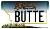 Butte Montana State License Plate Novelty Wholesale Magnet M-11096
