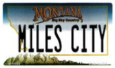 Miles City Montana State License Plate Novelty Wholesale Magnet M-11099