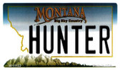 Hunter Montana State License Plate Novelty Wholesale Magnet M-11122