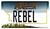 Rebel Montana State License Plate Novelty Wholesale Magnet M-11130
