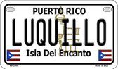 Luquillo Puerto Rico State Wholesale Motorcycle License Plate MP-2855