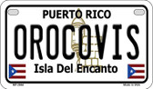 Orocovis Puerto Rico State Wholesale Motorcycle License Plate MP-2864