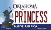 Princess Oklahoma State License Plate Novelty Wholesale Magnet M-6231