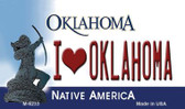 I Love Oklahoma State License Plate Novelty Wholesale Magnet M-6233
