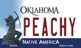 Peachy Oklahoma State License Plate Novelty Wholesale Magnet M-6248