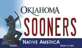 Sooners Oklahoma State License Plate Novelty Wholesale Magnet M-6261