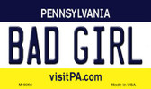Bad Girl Pennsylvania State License Plate Wholesale Magnet M-6066