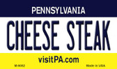Cheese Steak Pennsylvania State License Plate Wholesale Magnet M-6082