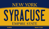 Syracuse New York State License Plate Wholesale Magnet M-8959
