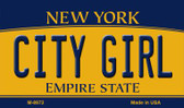 City Girl New York State License Plate Wholesale Magnet M-8972