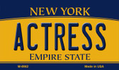 Actress New York State License Plate Wholesale Magnet M-8982