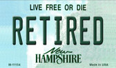 Retired New Hampshire State License Plate Wholesale Magnet M-11154