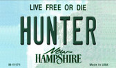 Hunter New Hampshire State License Plate Wholesale Magnet M-11171
